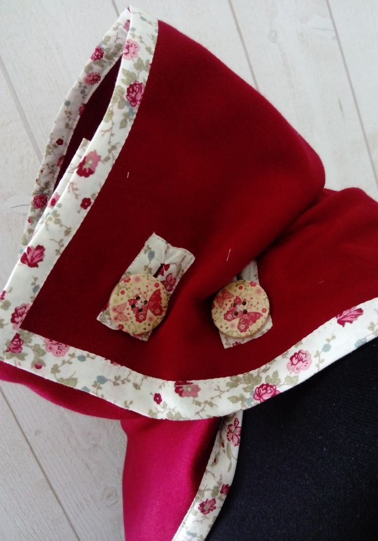 col , snood  en laine caban rouge