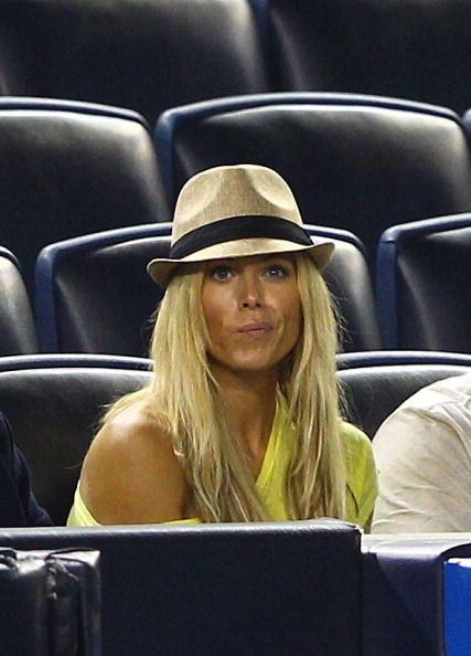 Torrie Wilson girlfriend of Alex Rodriguez of the New York Yankees sits at the game against the Minnesota Twins during their game on April 16 2012 at...
