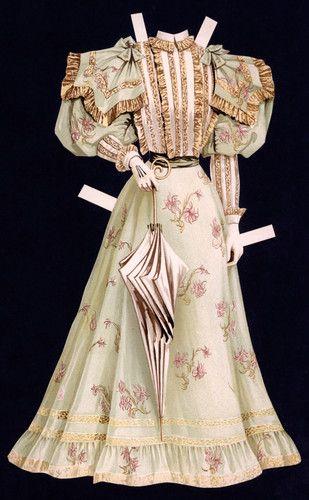 18 Cut Sunday Herald Paper Doll Dress | eBay