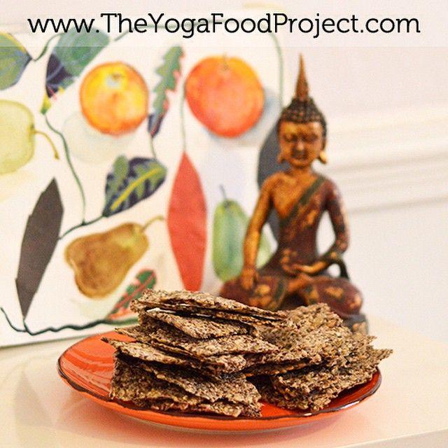 Flax Seed Crackers!  Eller fröknäckebröd med linfrö. #recipe in the blog #mums #knäcke #vegetarian