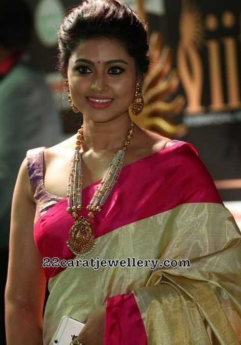Sneha Temple Jewelry with Pearls - Jewellery Designs