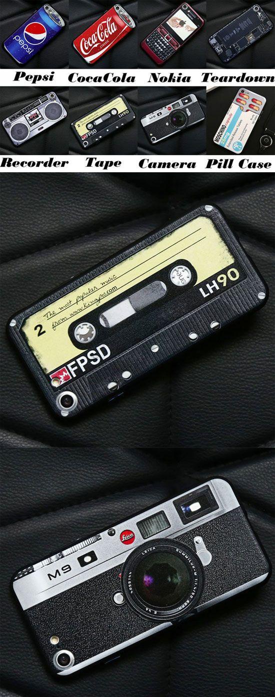 Funny Design Retro Pepsi Coca Cola Nokia Recorder Tape Camera Pill Case Iphone 7/7 plus Cases for big sale! #iphone #case #retro #coca cola #nokia #camera