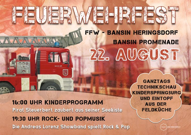 Nicht vergessen dieses Wochenende findet das #Sommerfest der #Feuerwehr #Bansin/ #Heringsdorf statt.