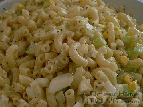 How To Make Old-Fashioned Macaroni Salad Recipe Salads with elbow macaroni, sweet onion, celery, mayonnaise, white vinegar, celery seed, hard-boiled egg, extra large eggs, white vinegar, mustard powder, kosher salt, olives