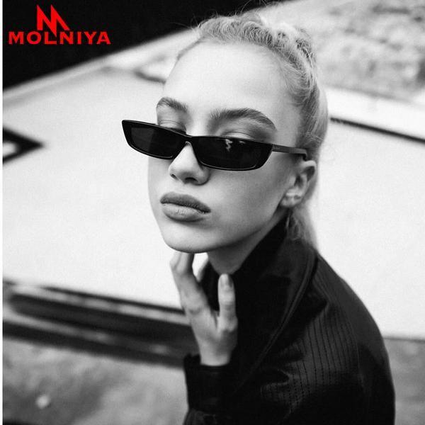 #SUNGLASSES #NEW 2018 Vintage Rectangle Sunglasses Women New Brand Designer Small Frame Sun Glasses Retro Black Eyewear gafas de sol