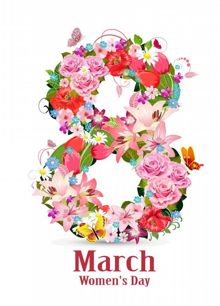Открытка 8 марта английский, картинки