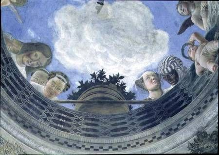 Image: Andrea Mantegna - Trompe l'oeil oculus in the centre of the vaulted ceiling of the Camera degli Sposi or the Camera Pi