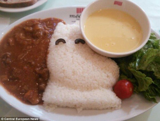 Tasty: Meals are served with a distinct Moomin theme at the cafe in Tokyo...