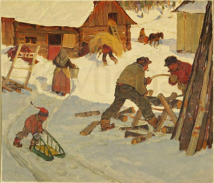 Clarence Gagnon – Laying in supplies - 1932 Follow the biggest painting board on Pinterest: www.pinterest.com/atelierbeauvoir