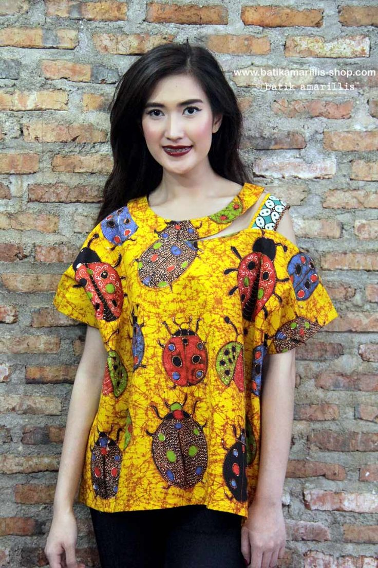 batik amarillis's peek a boo blouse2 Available now at Batik Amarillis webstore www.batikamarillis-shop.com  Fun, whimsical & adorable top with a twist!