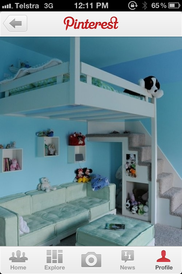 High sleeper bed with sofa underneath teen spaces for High sleeper bed