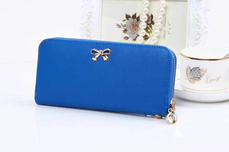2016 New Female Wallets Fashion Leather Wallet Clutches Korean Cute Bowknot 3D Purse Famous ladies Brand Women Clutches