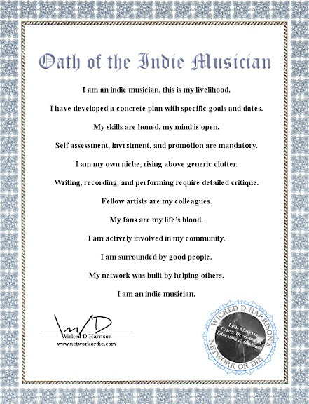 15 best Oath of the Indie Musician images on Pinterest Indie music - new llc membership certificate sample