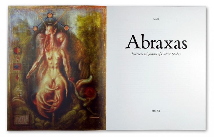 Following the enormous success of the first issue, we are delighted to announce Abraxas No.2 is now available. Substantially larger than the first issue, Abraxas No.2 offers over 200 pages of essays, poetry, interviews and art. Uniquely produced in a large high quality format, printed on a variety of papers, richly illustrated in colour and monochrome, and offering our first free audio supplement, we hope this issue of Abraxas will provoke and inspire.