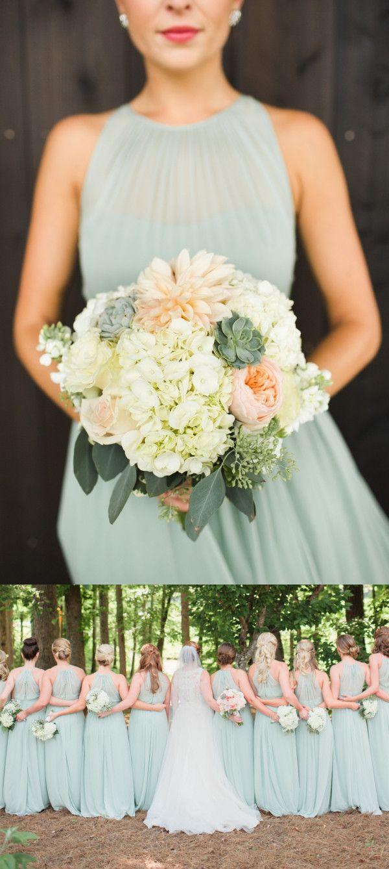 long bridesmaid dress, chiffon bridesmaid dress, sage bridesmaid dress, 2017 bridesmaid dress