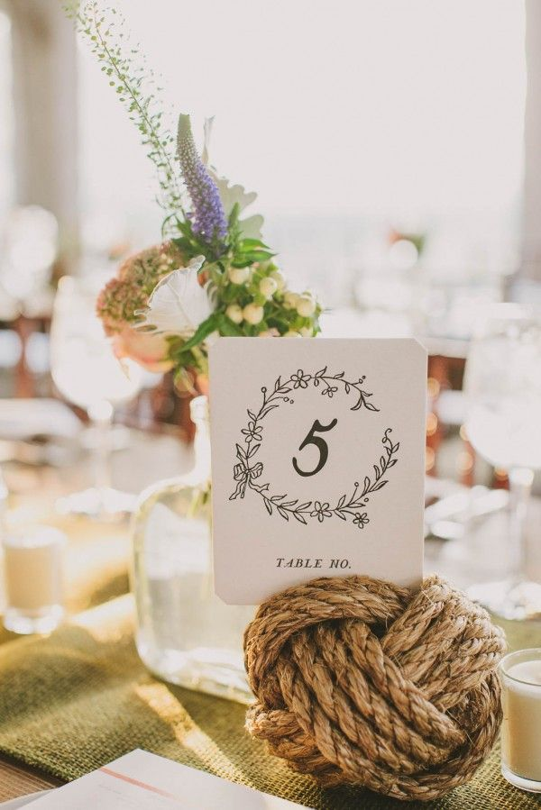 Lovely nautical wedding decor at this Cape Cod soiree