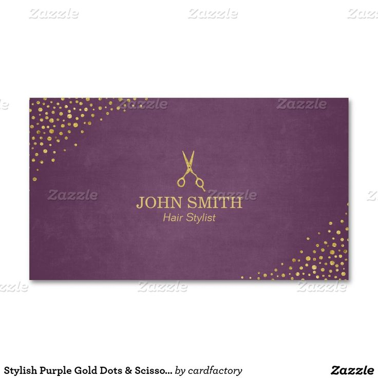 276 best business card templates images on pinterest business card hair stylist purple gold dots scissor business card colourmoves