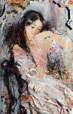 "Saatchi Online Artist Yulia Luchkina; Painting, ""Doll. Detail."" #art"