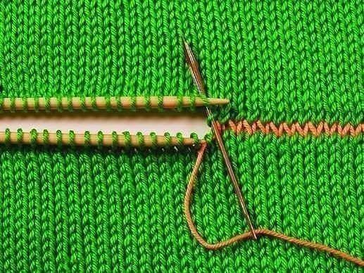 Kötés összevarrása