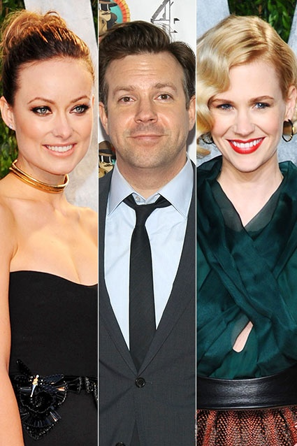 SNL funnyman Jason Sudeikis jumped from Mad Men's January Jones to Tron's Olivia Wilde -- but which lady is lovelier?: Men January, Funnyman Jason, Tron Olivia, January Jones, Sudeiki Jumping, Snl Funnyman, Mad Men, Olivia Wilde, Jason Sudeiki