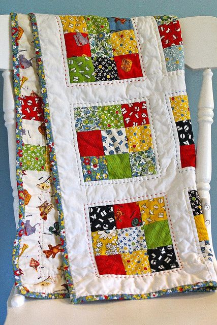 American Jane 9 Patch Baby Quilt | http://www.flickr.com/photos/1999mobile/9282477348/in/photostream/