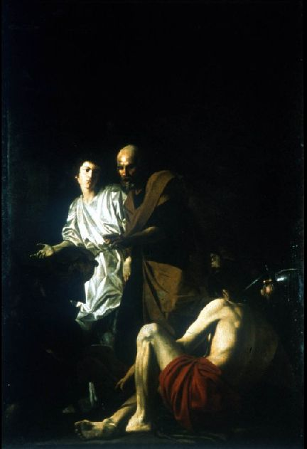 Liberation of Peter from Prison by Battista Caracciolo, 1615. Oil on Canvas | Tenebrism