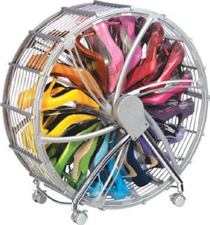 SHOE WHEEL, $71 Can hold up to 30 pairs of shoes depending on the type.