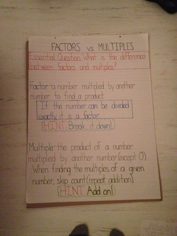 307 best math factors images on pinterest
