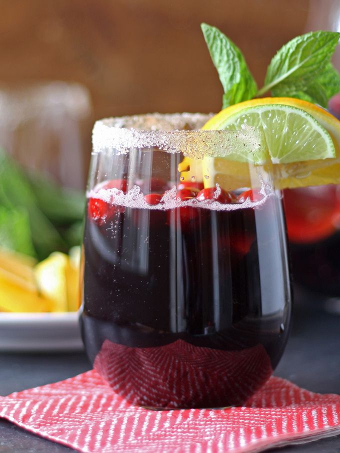 Winter sangria: elevated.