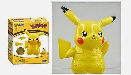 BLOG DOS BRINQUEDOS: Pokemon Pikachu Figural 3-D Quebra-cabeça