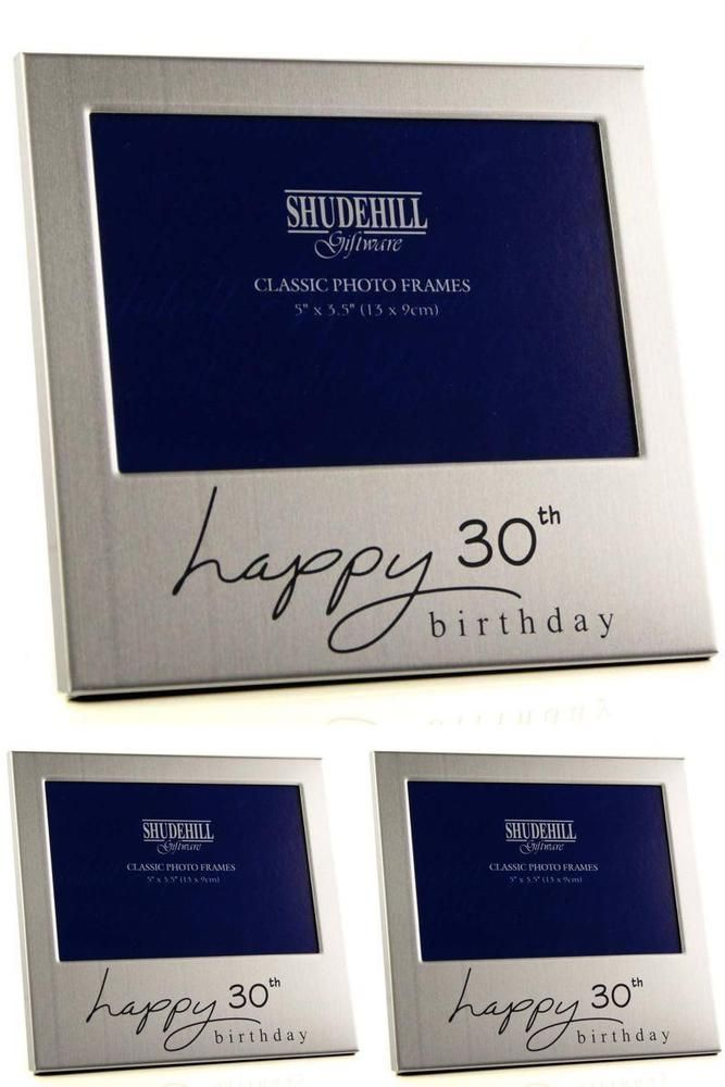New Happy 30th Birthday Gift Present Photo Frame For Her Female Male Him Mens UK