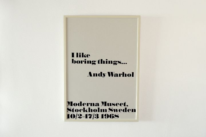 Andy Warhol × John melin / I like boring things…