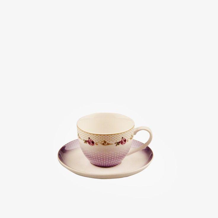 Karaca çay Fincanı Mor Gül