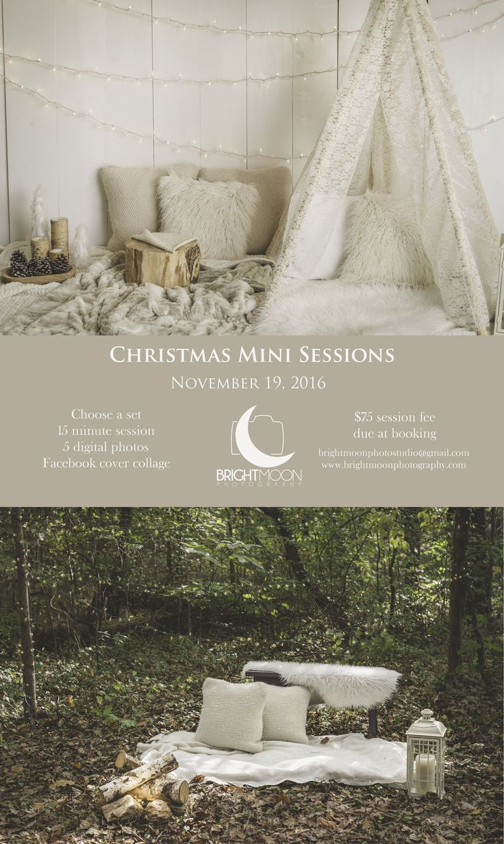 It's October, which means it is time to book your Christmas Mini Session!  These sessions are perfect for sending out beautiful custom Christmas cards  to your friends and family! Don't miss this opportunity as this session is  only available on November 19th, and I am not able to book any full family  sessions until January.  I'm looking forward to being a part of your  holiday preparations!  The woods set has the best light during the morning until 10am and in the  evening until sunset…