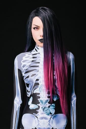 X-Ray Skeleton Costume Bodysuit >> BADINKA