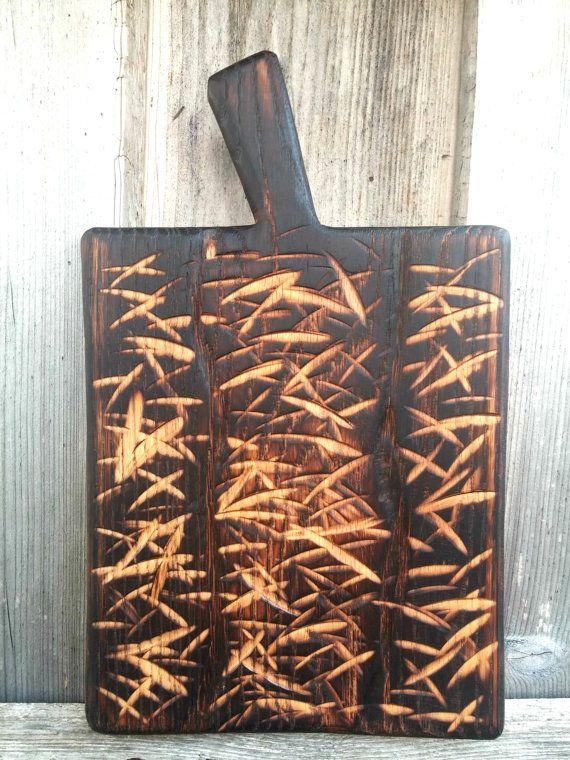 Wooden cutting board Rustic cutting board Unique by oigonstore