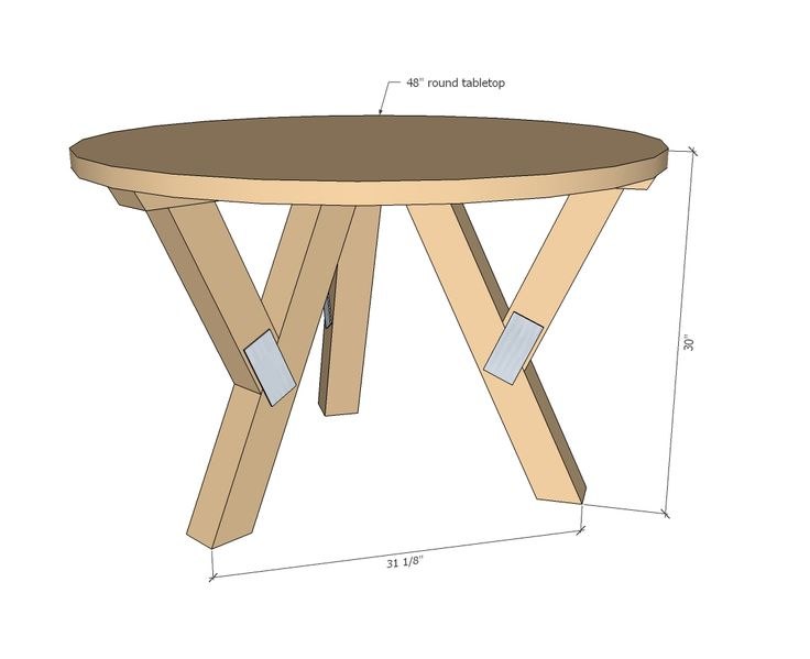 Round Pedestal Dining Table Plans WoodWorking Projects Plans