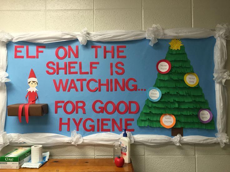 Elf on the Shelf School Nurse Bulletin Board