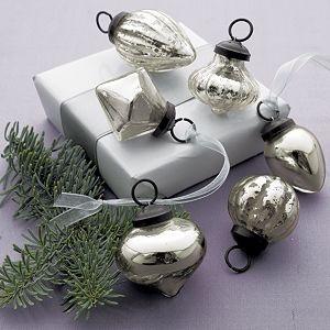 Mini Antiqued Silver Ornaments