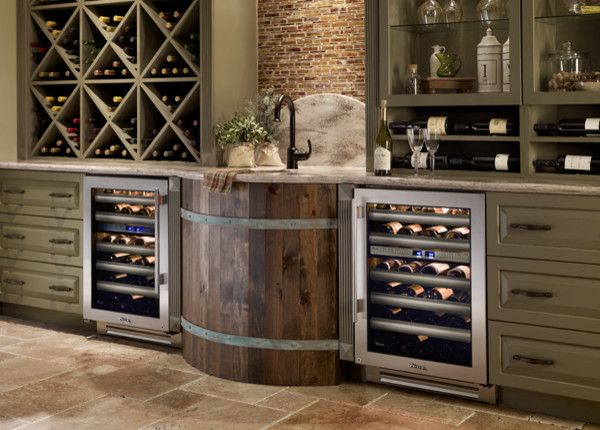 True built-in wine & beverage fridge. Modern kitchen amenities. - via Interior Canvas