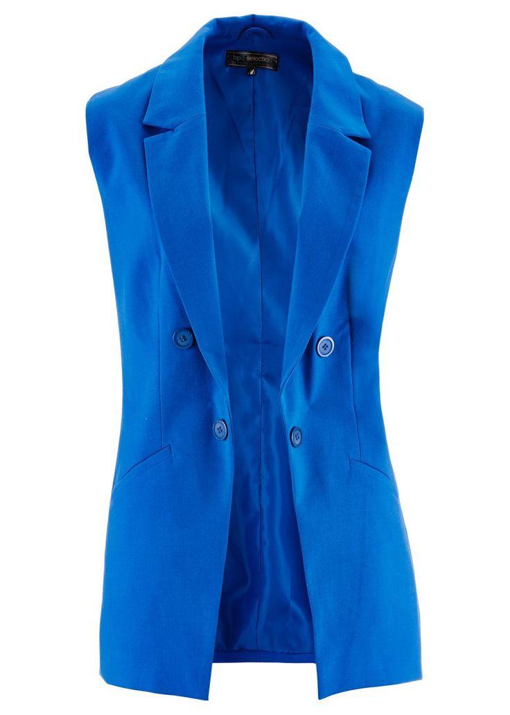 Blejzerová vesta Elegantná bez zapínania • 21.99 € • Bon prix