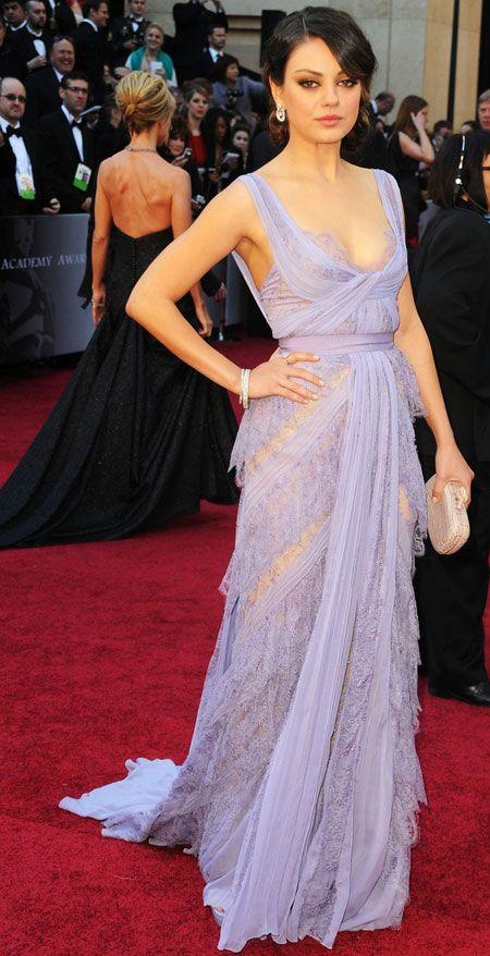 Mila Kunis in an Elie Saab dress