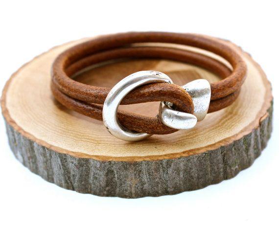 Father's Day Gift New Dude Bracelet Simple Leather Bangle Mens Leather Bracelet Unisex Amy Fine Design