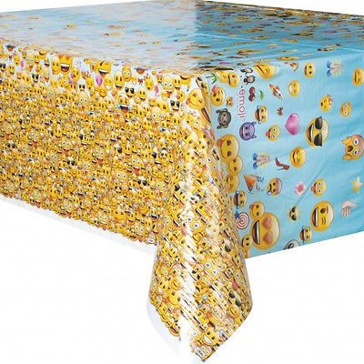 EMOJI PLASTIC TABLE COVER ~ Birthday Party Supplies Decorations Cloth LOL iPhone