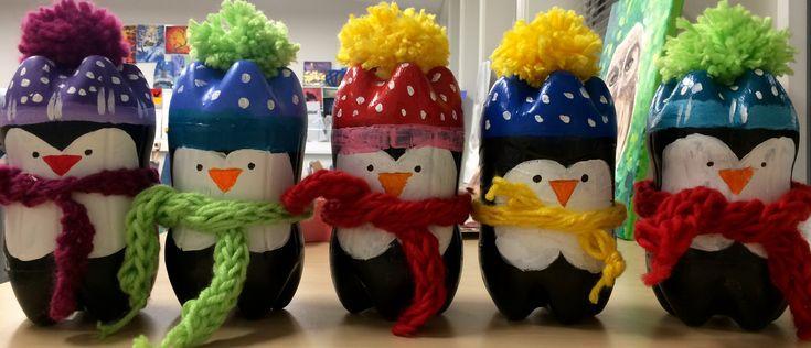 Пингвины из пластмассовых бутылок🤗👏😍