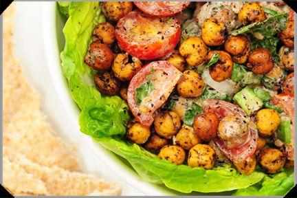 Lebanese Chickpea Salad by thedailyspud #Chickpea #Salad #thedailyspud