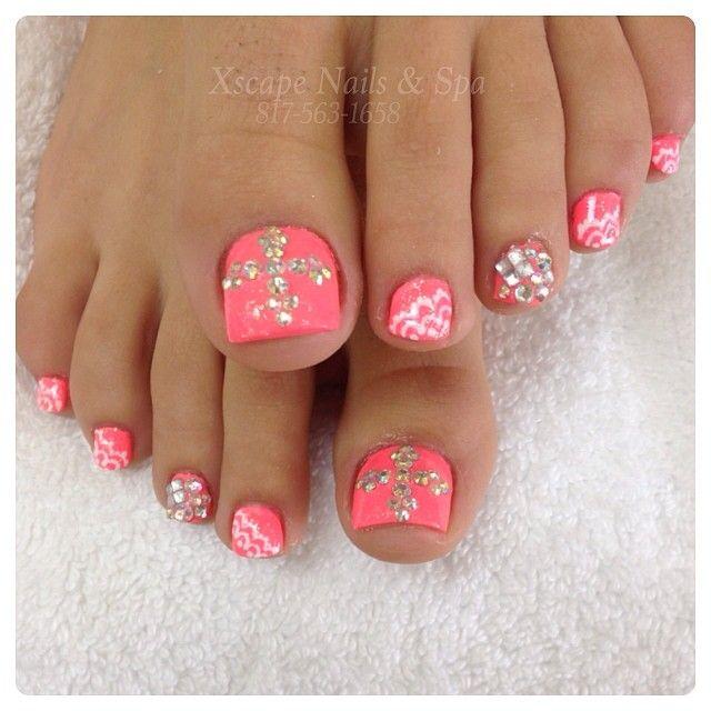 Cute toe nails...love the color @xscapenails