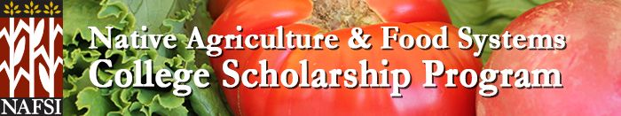 $1,000 scholarships available for Native American Ag & Food Systems college students.  http://org2.salsalabs.com/o/5855/t/0/blastContent.jsp?email_blast_KEY=1337132