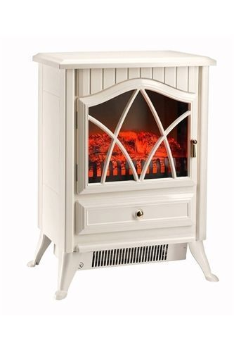 Electric Stove Fire Heater with Log Flame Effect Freestanding - Cream - New 2016 in Home, Furniture & DIY, Fireplaces & Accessories, Fireplaces | eBay!