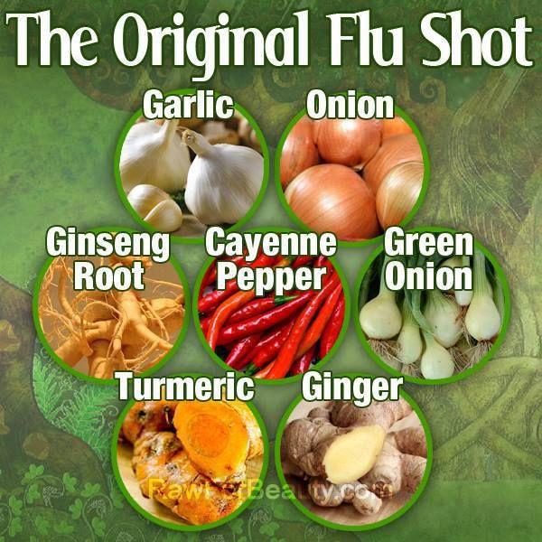 Flu shot the natural way!                                                                                                                                                                                 More